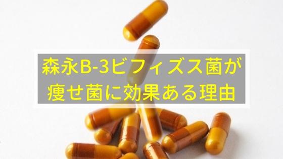 森永B-3ビフィズス菌が痩せ菌に効果ある理由