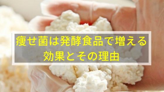 痩せ菌は発酵食品で増える!効果とその理由とは?
