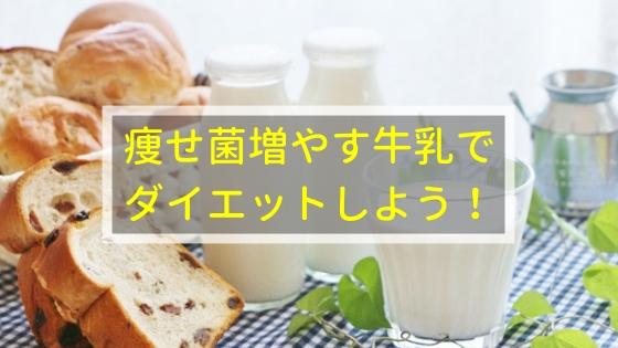 痩せ菌増やす牛乳で ダイエットしよう!