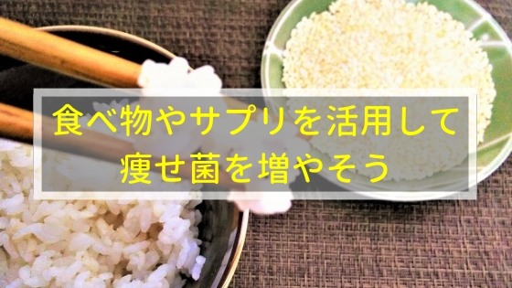 食べ物やサプリを活用して痩せ菌を増やそう