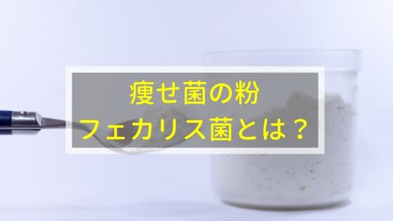 痩せ菌の粉「フェカリス菌」とは?