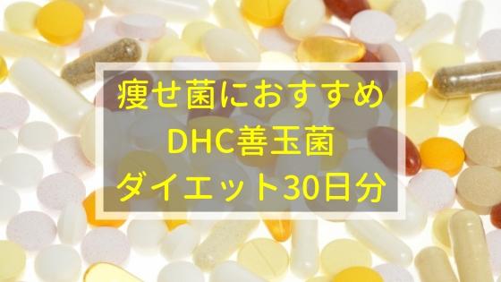 痩せ菌にはDHC善玉菌ダイエット30日分がおすすめ