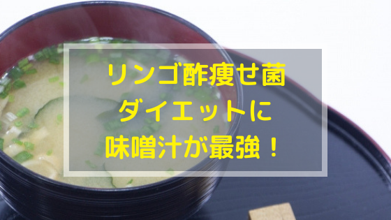 リンゴ酢痩せ菌ダイエットと味噌汁