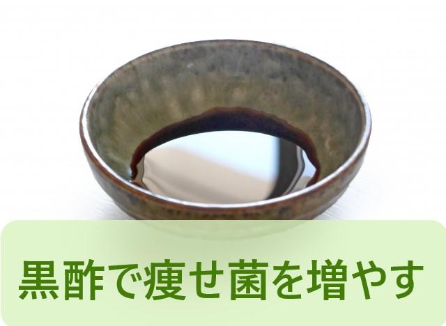 黒酢で痩せ菌が増える
