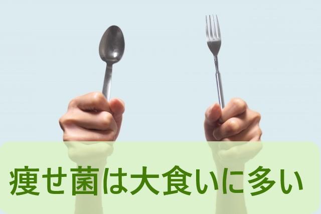痩せ菌は大食いほど多い