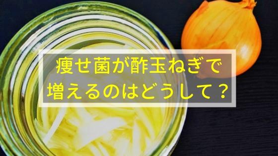 痩せ菌が酢玉ねぎで増えるのはどうして?