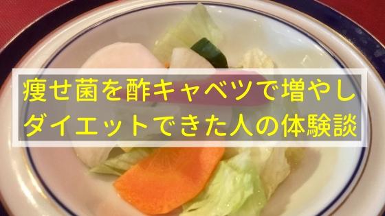 痩せ菌を酢キャベツで増やしてダイエットできた人の体験談