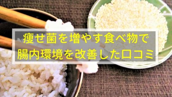 痩せ菌を増やす食べ物で腸内環境を改善できた人の口コミ