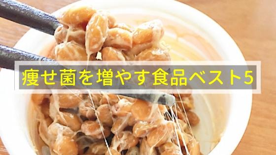 痩せ菌を増やす食品ベスト5