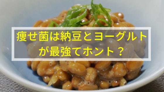 痩せ菌は納豆とヨーグルトが最強てホント?