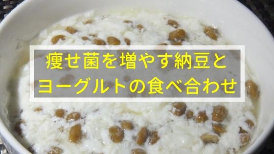痩せ菌を増やす納豆とヨーグルトの食べ合わせってどうなの?
