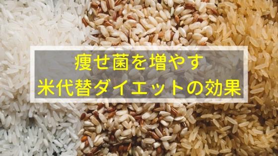 痩せ菌の米代替ダイエットの効果とは!?