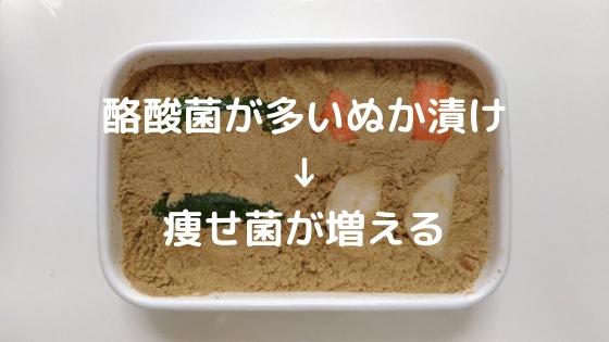 酪酸菌の多いぬか漬けを食べて痩せ菌が増える