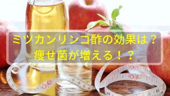 ミツカンリンゴ酢の効果ってどうなの!?痩せ菌が増える!?