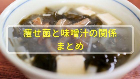 痩せ菌と味噌汁の関係まとめ
